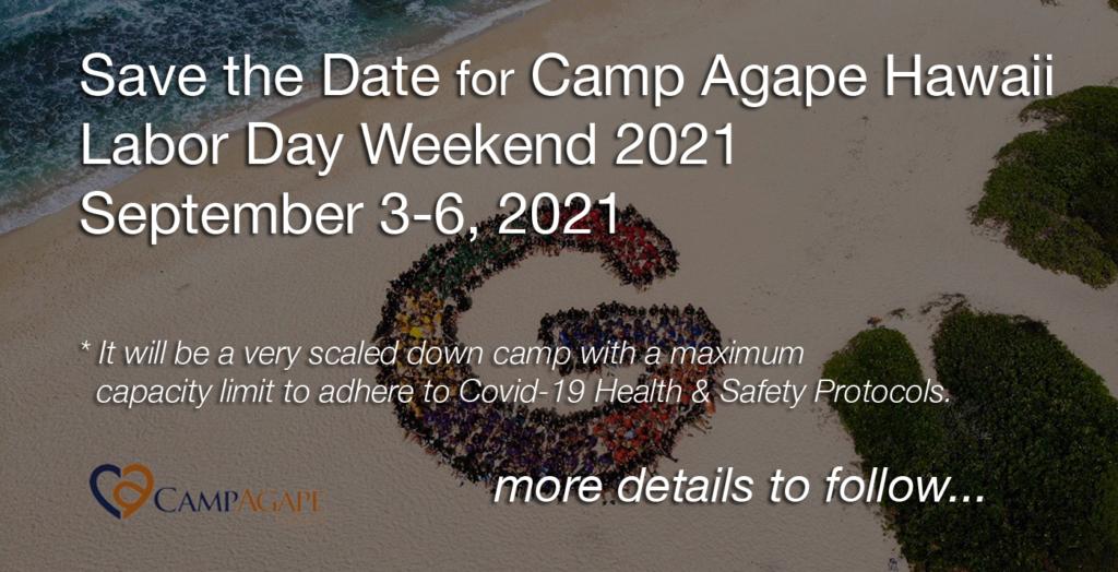 Camp Agape Hawaii 2021 Save the Date